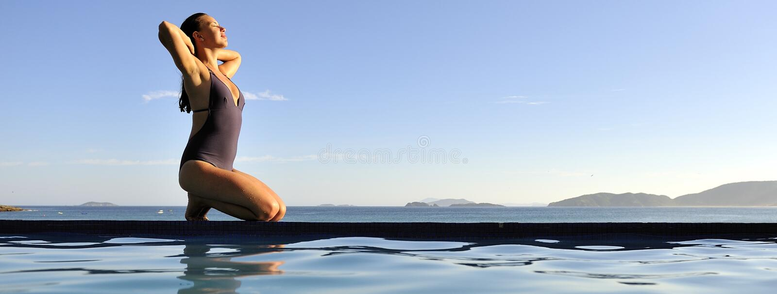 Relaxation on the beach royalty free stock images