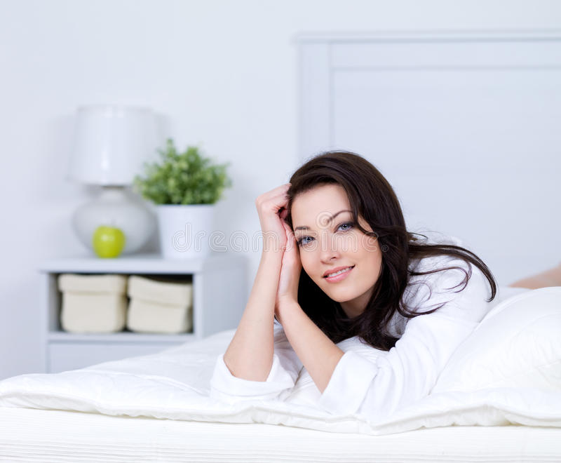 Download Relaxation Of Beautiful Woman On A Bed Stock Image - Image: 16758863