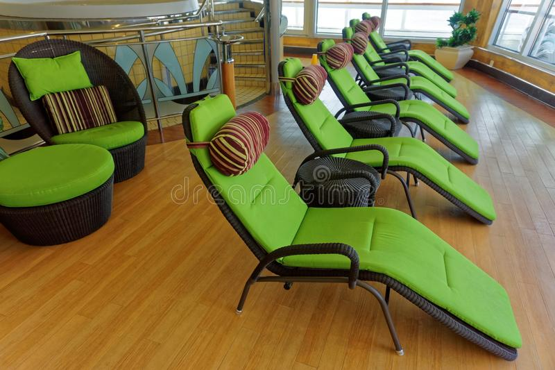 Relaxation Chairs and Beds stock photos