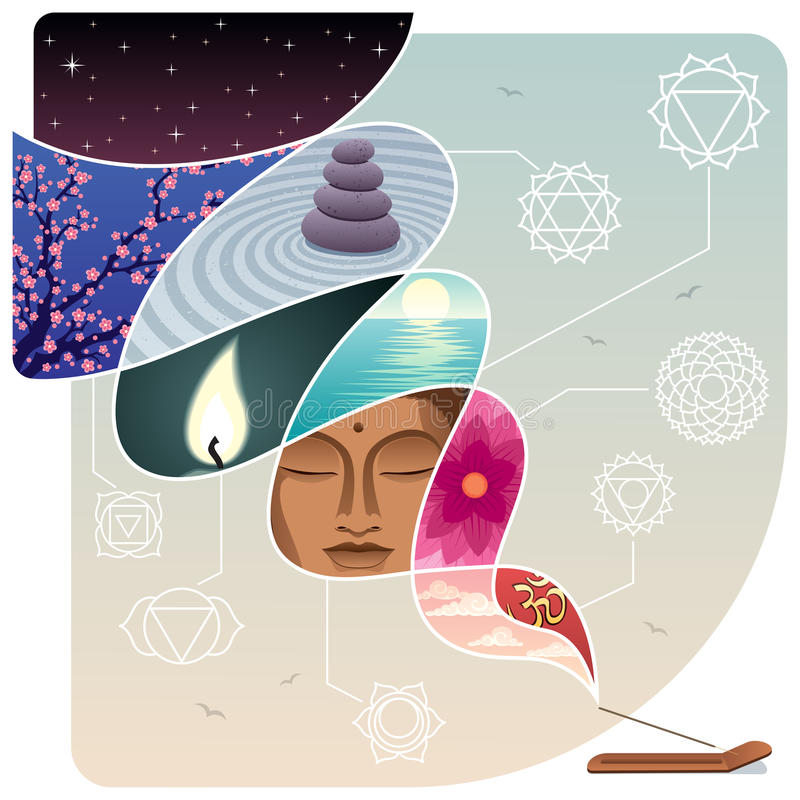 Relaxation royalty free illustration