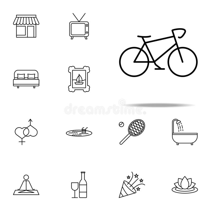 relaxation in cycling icon. relaxation icons universal set for web and mobile stock illustration