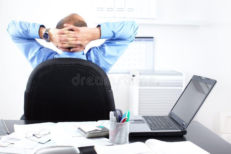 Relaxation d'homme d'affaires photos libres de droits