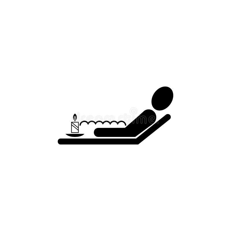 relaxation dans la baignoire avec l'icône de mousse Élément d'icône de STATION THERMALE Conception graphique de qualité de la mei illustration libre de droits