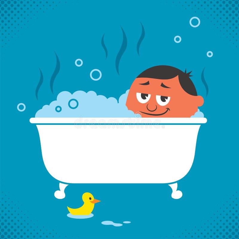 Relaxation de baignoire illustration libre de droits