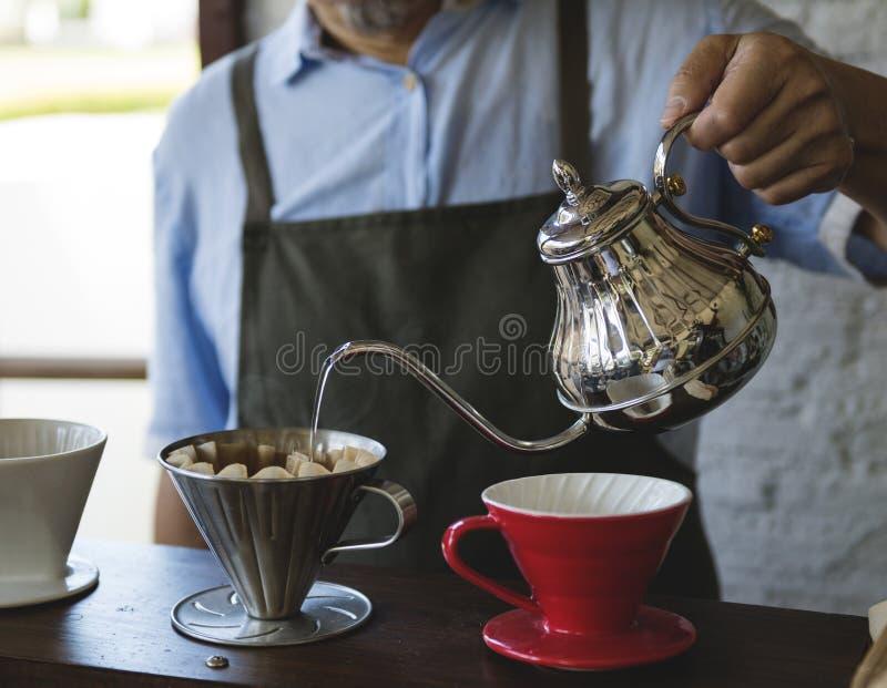 Relaxation de Cafe Caffeine Drink de barman de boisson photographie stock libre de droits