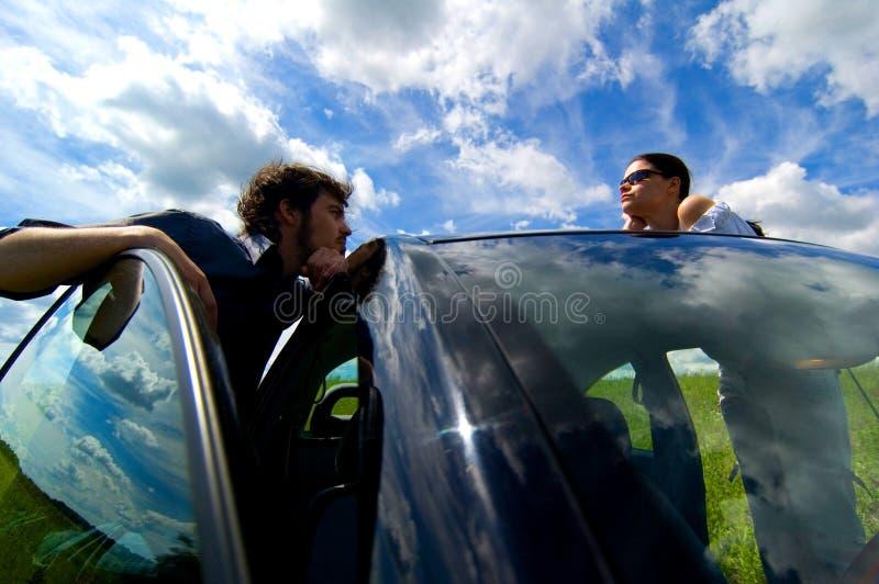 Relaxation de voyage par la route photo stock