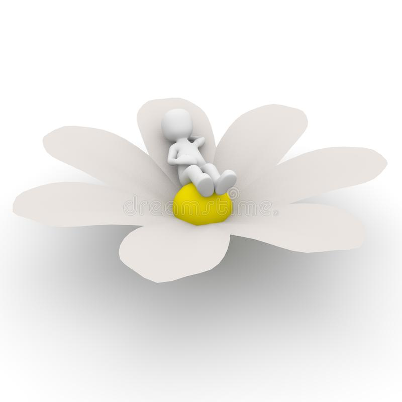 Relaxation on flower royalty free illustration