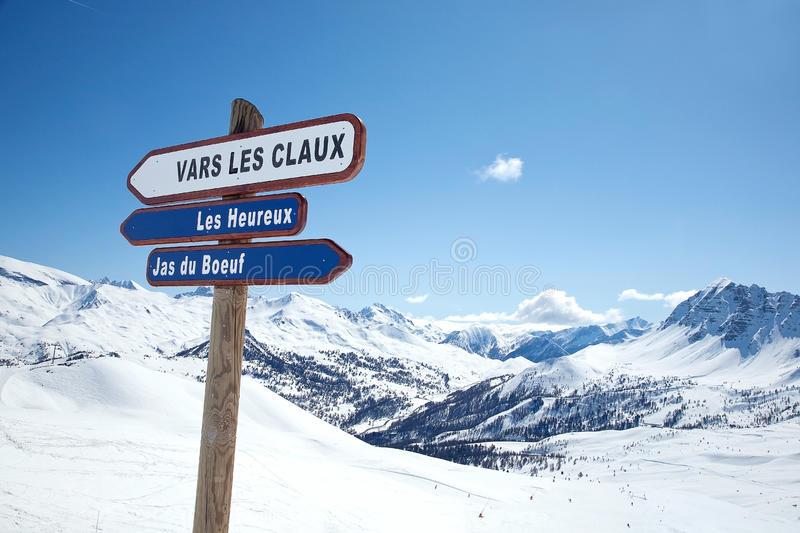 Relaxation in Les Arcs. France. Ski area stock photography