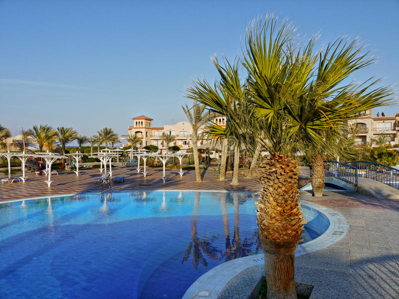 Relaxation Luxury Hotel Holiday Resort Egypt Africa stock photos