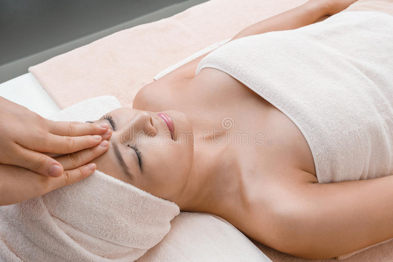 Relaxation massage in Thai spa stock photo