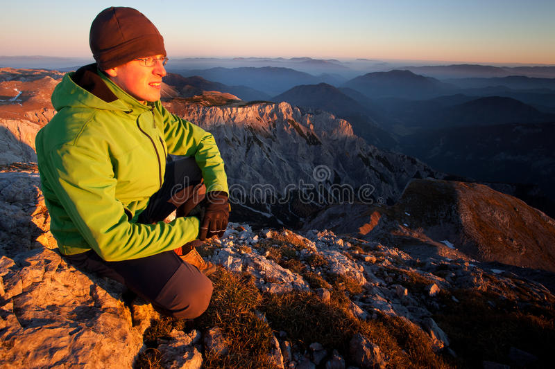 Relaxation in the mountains stock image