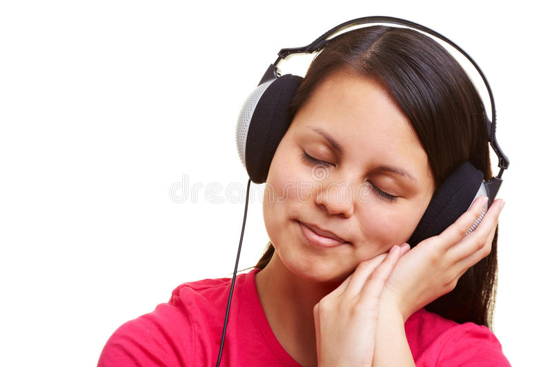 Download Relaxation with music stock image. Image of face, cutout - 14862115