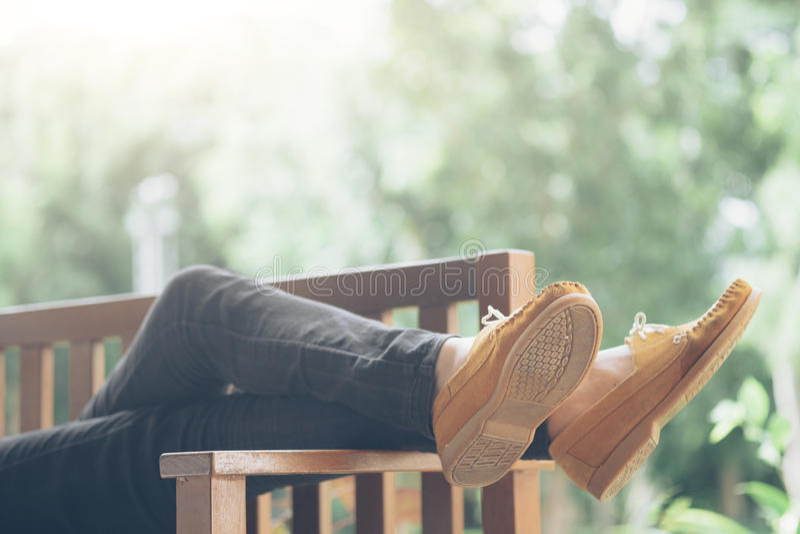 Relaxation and outdoor idea concept. stock photos