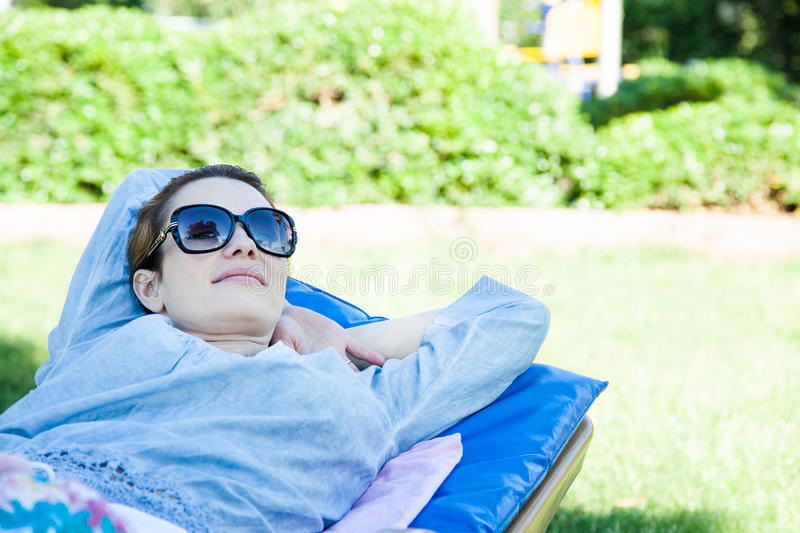 Relaxation in the park royalty free stock photography