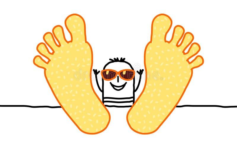 Relaxe & verão ilustração stock