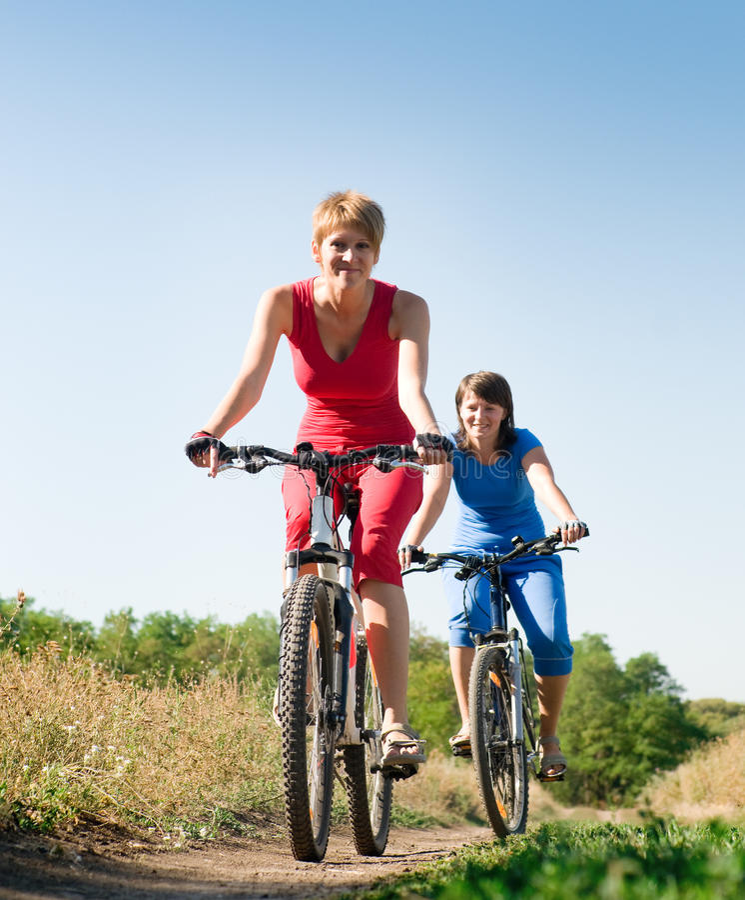 Relaxe biking fotografia de stock