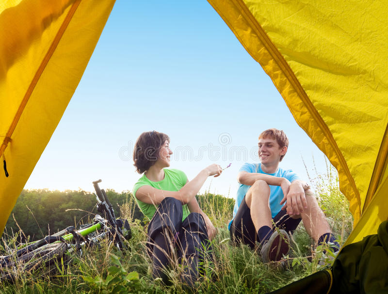 Relaxe biking imagens de stock royalty free