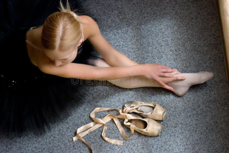 Relaxe da bailarina foto de stock