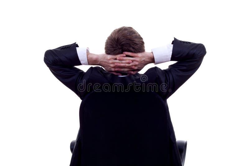 Relaxe do homem de negócio imagens de stock royalty free