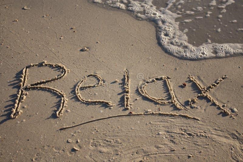 Relaxe na praia imagens de stock