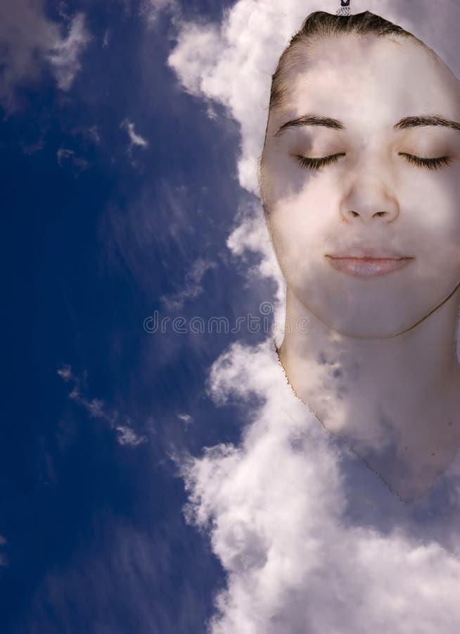 Relaxe no céu imagens de stock royalty free
