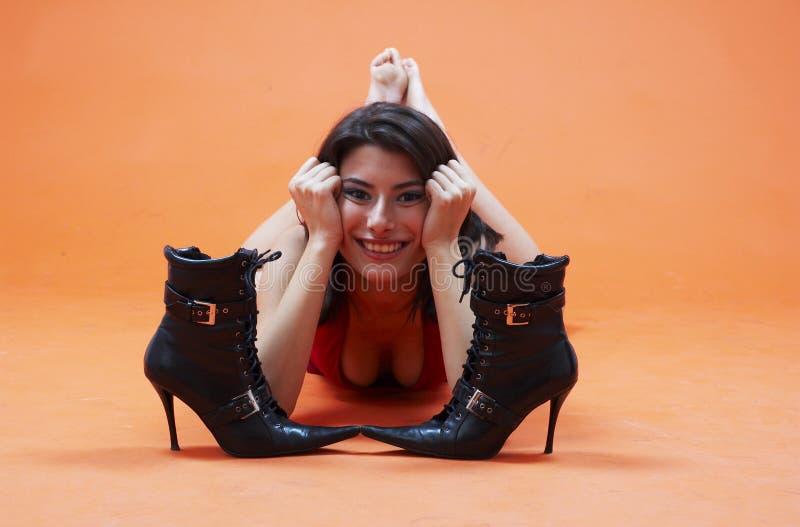 Relaxe nos pés desencapados fotografia de stock