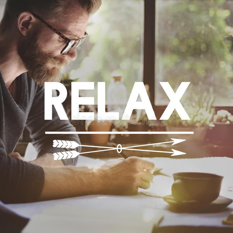 Relaxe o conceito da serenidade da paz da liberdade do resto do abrandamento fotos de stock