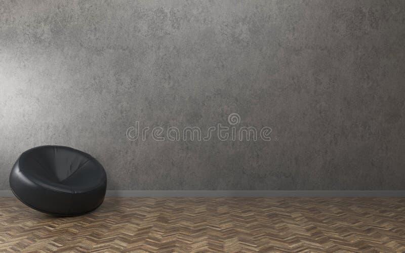 Relaxe o espa?o na casa Sala vazia com sof? Projeto interior moderno ilustração do vetor