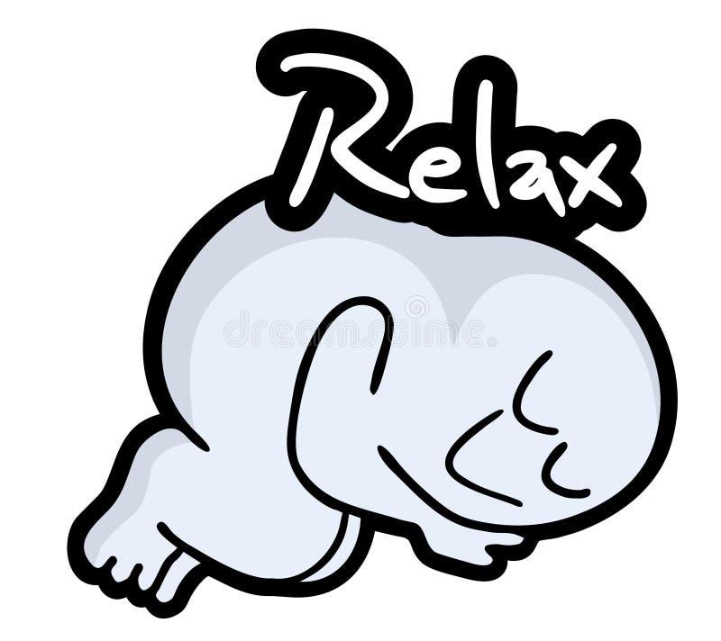 Relaxe o fantoche ilustração stock