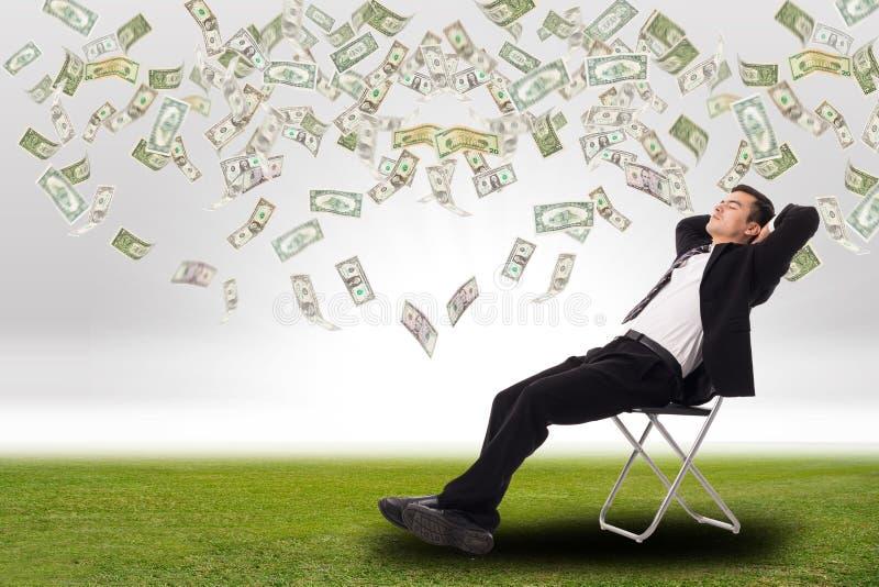 Relaxe o homem de negócios fotos de stock royalty free