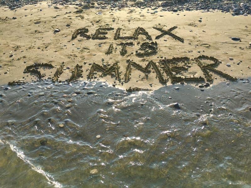 Relaxe seu verão imagens de stock