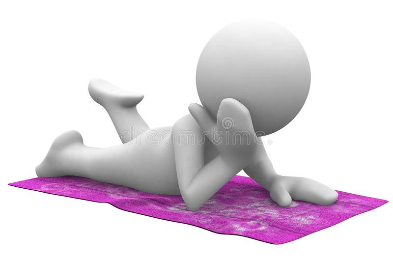 Relaxe sob o sol ilustração stock