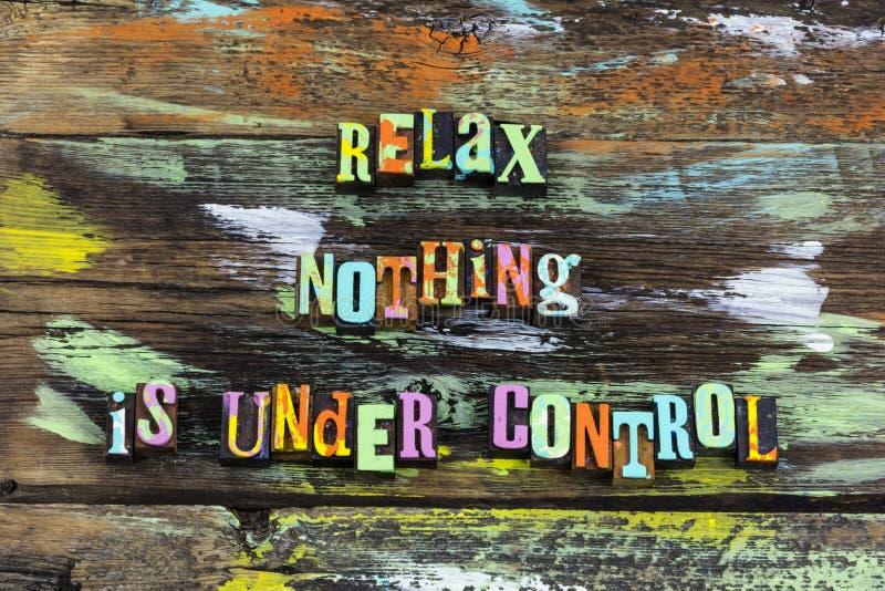 Relaxe tudo que nada sob o controle aprende o desconhecido da aventura foto de stock royalty free