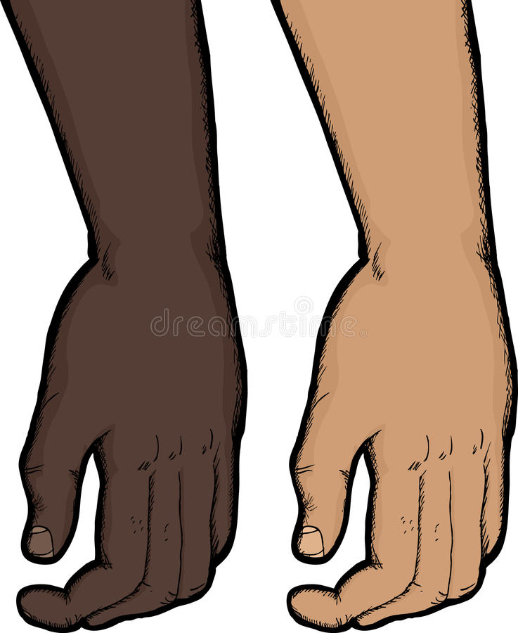 Relaxed рука бесплатная иллюстрация