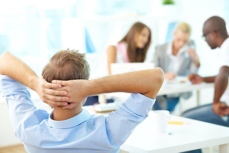 Relaxed учитель стоковое изображение
