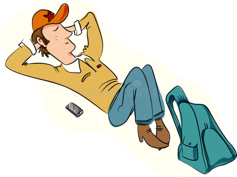 Relaxed человек иллюстрация штока