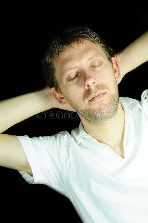 Download Relaxed stock photo. Image of person, dream, portrait - 13594190
