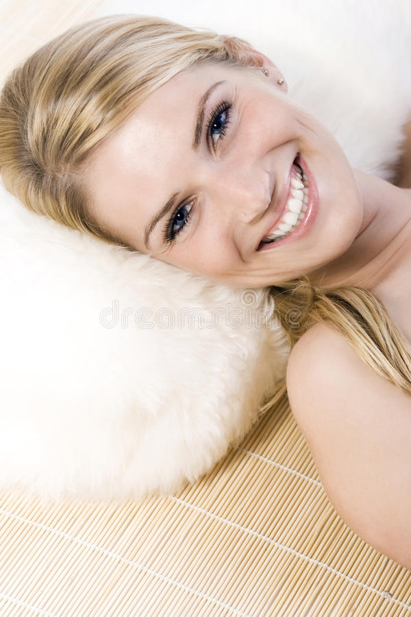 Free Relaxed And Happy Beautiful Blonde Woman Smiling Stock Image - 31642951