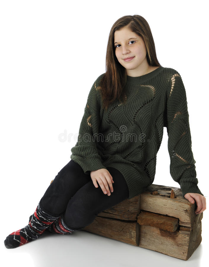 Relaxed On A Beam Stock Photo