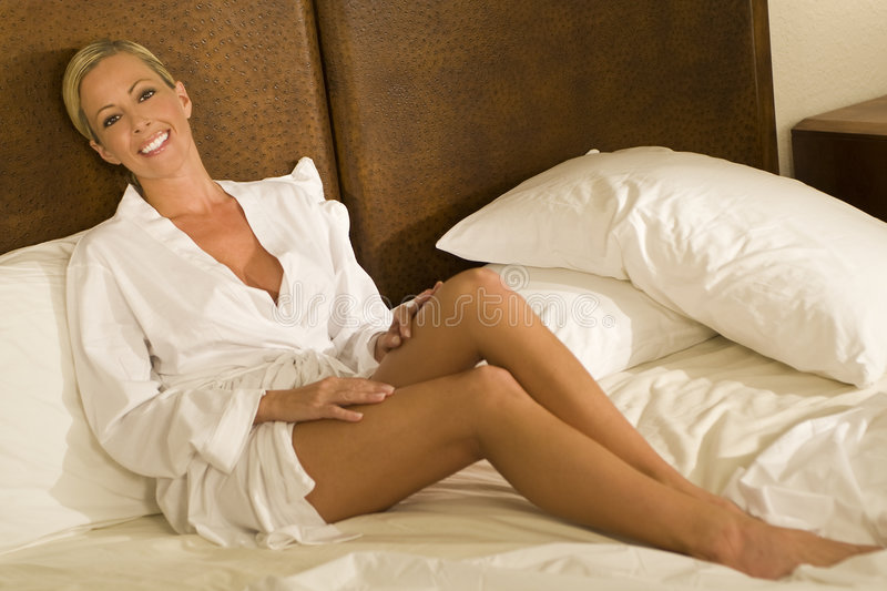 Relaxed & Beautiful stock image