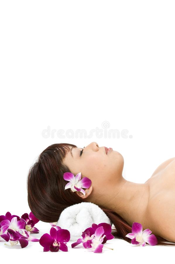 Relaxed Beauty stock photography