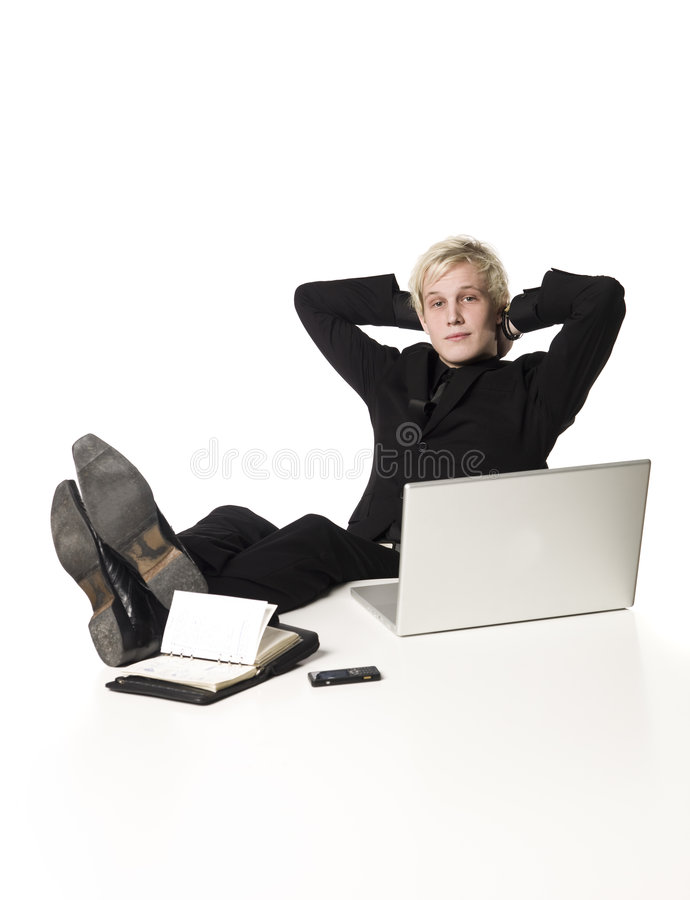 Relaxed Boy Royalty Free Stock Images