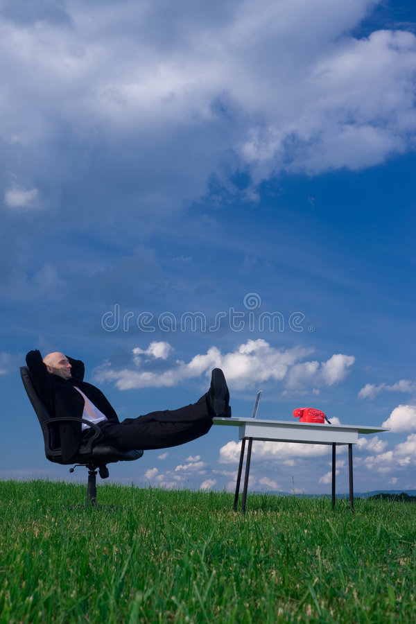 Download Relaxed Businessman stock photo. Image of handsome, open - 5691502