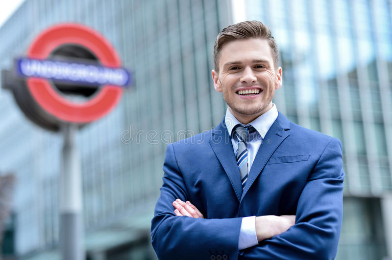 Relaxed corporate male executive stock images