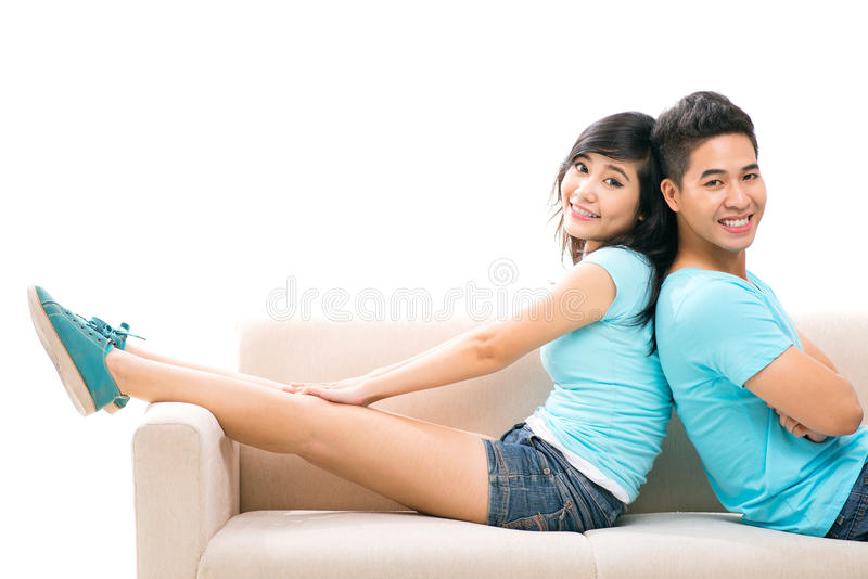Relaxed couple royalty free stock image
