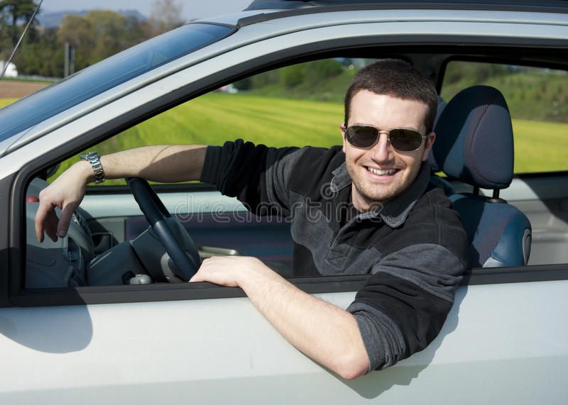 Relaxed driver portrait royalty free stock images