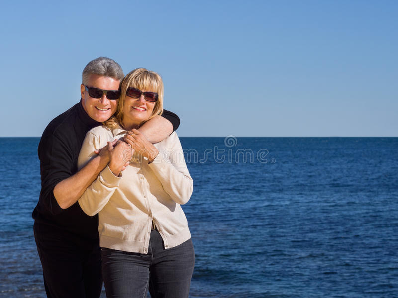 Download Relaxed Healthy Couple Enjoying The Coast Stock Image - Image: 37757165