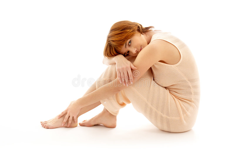 Relaxed lady stock photography