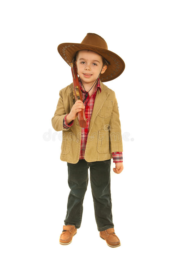 Relaxed Little Cowboy Stock Photography