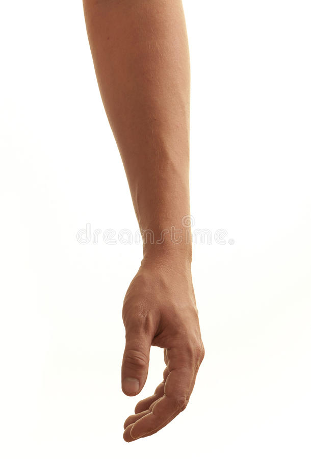 Relaxed male arm stock photo